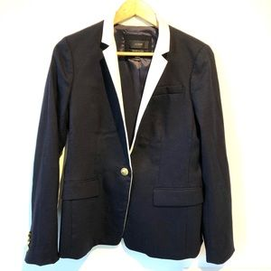 J Crew | Regent blazer navy wool with gold buttons